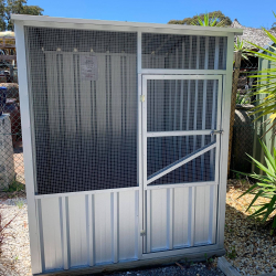 Small Aviary in zinc and high dado sheet