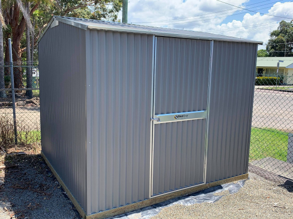 Small shed corrugated steel.