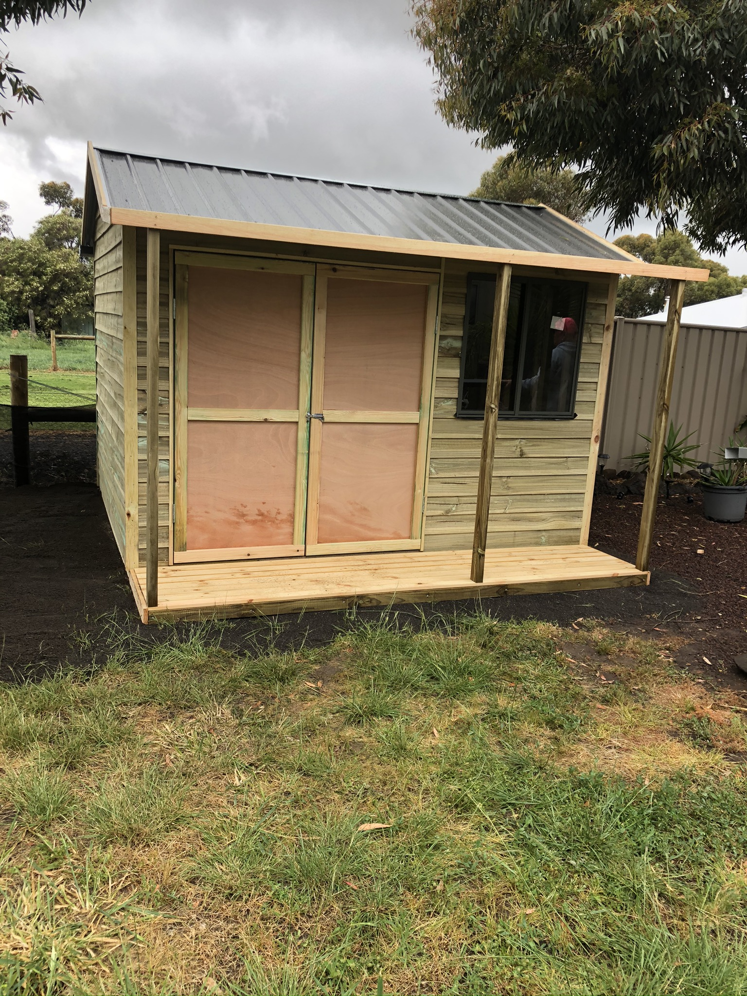 Wooden Gable Shed with Verandah