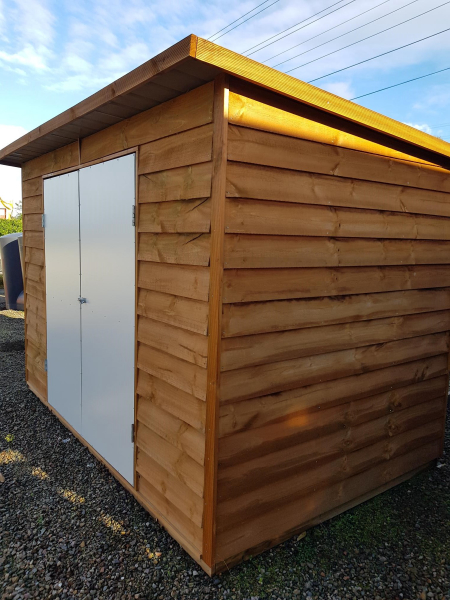 Timber Shed with flat roof