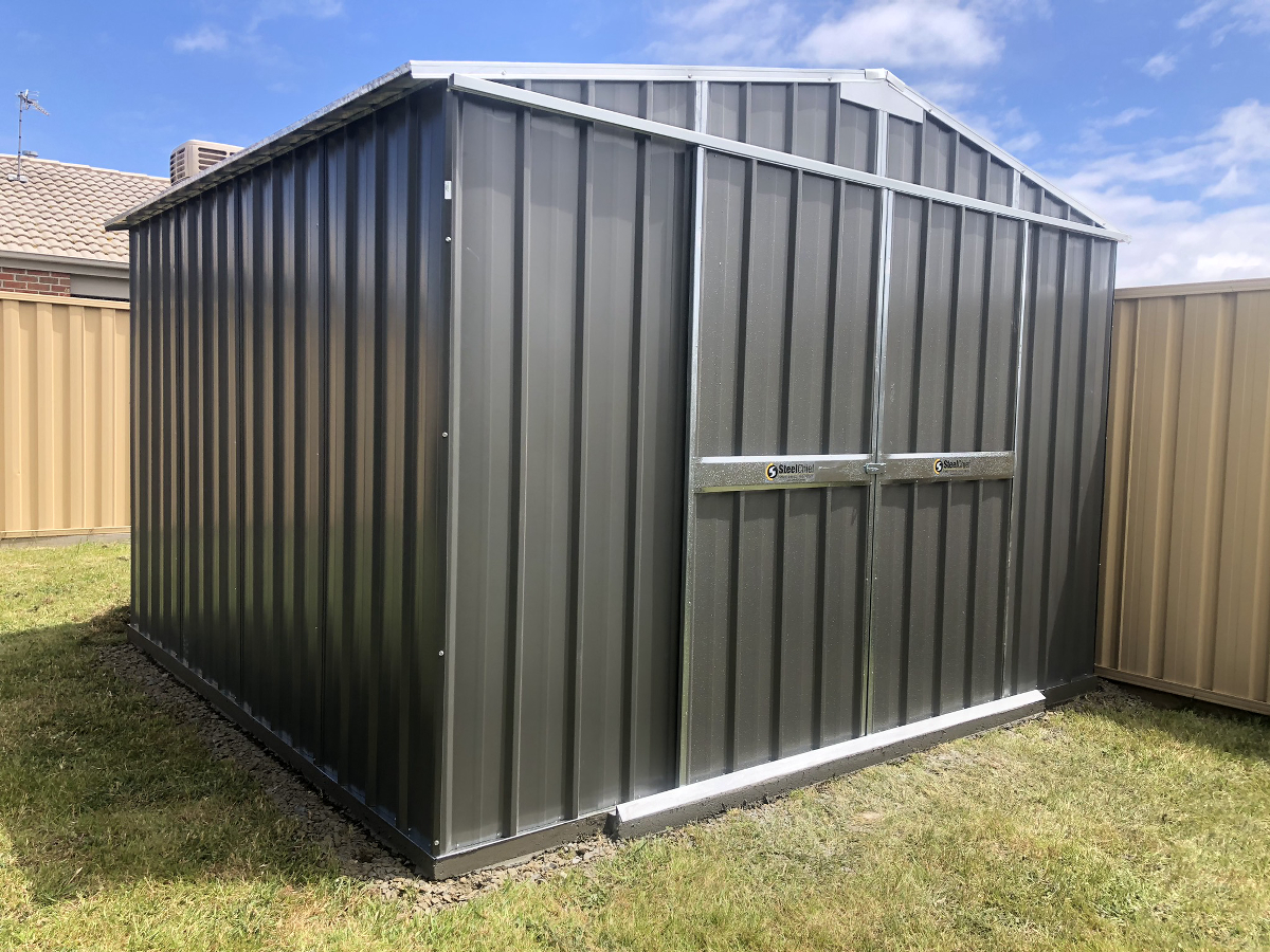 Gable Shed with Sliding Doors Gable End