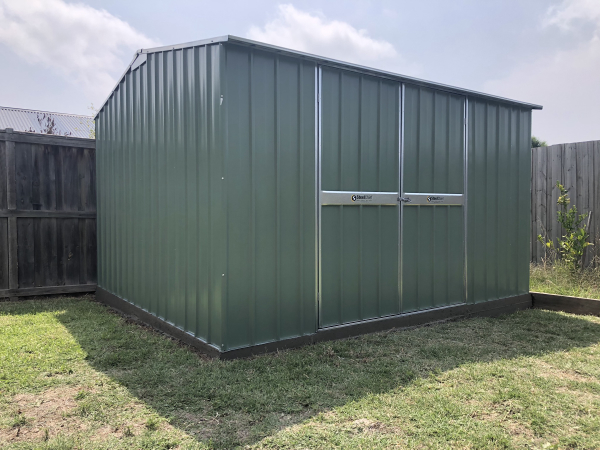 Shed With Double Doors Green