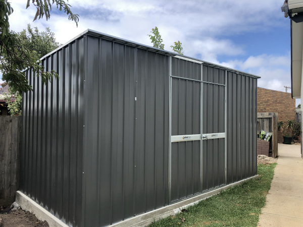 Skillion Shed Double Doors