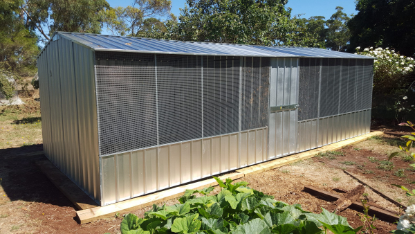 Chicken Coop with Gable Roof