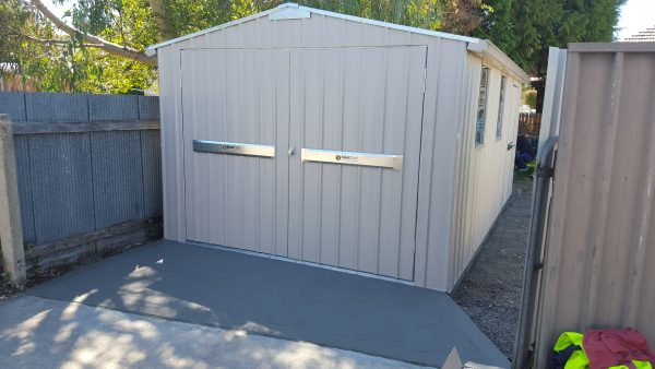 Steel Frame Garage Doors with Guttering