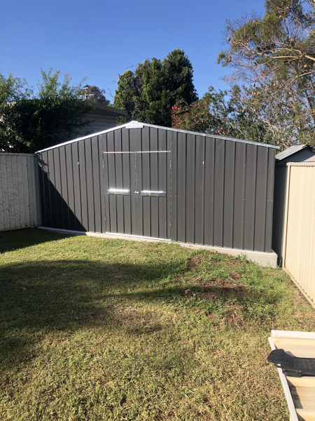 Trapazoid Gable Garden Shed by SteelChief