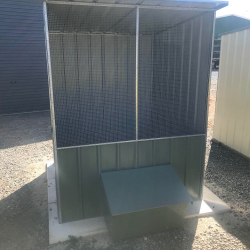 Skillion Roof Chicken Coop with Layer Box