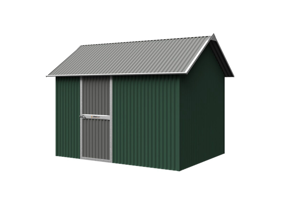 Corrugated Garden Shed with Heritage Roof