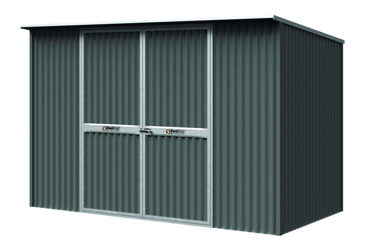Corrugated Garden Shed with Skillion Roof