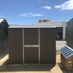 Corrugated Gable Shed with Single Door