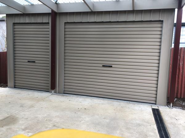 Slim Roller Door Shed with 2 Doors