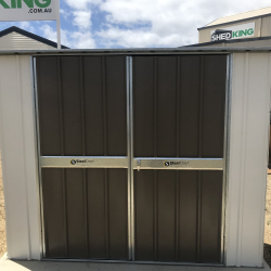 Flat Roof Garden Shed with Double Doors
