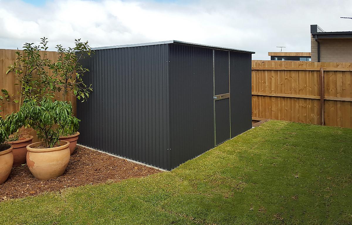 Corrugated garden shed
