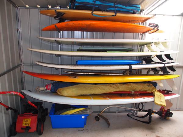 Surfboard storage garden sheds Australia