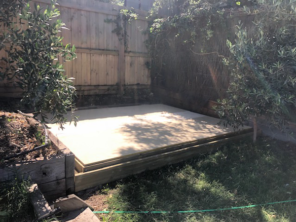 Wooden Floor Installation Shed