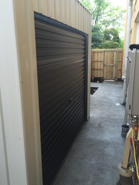 Roller Door Shed for tight space