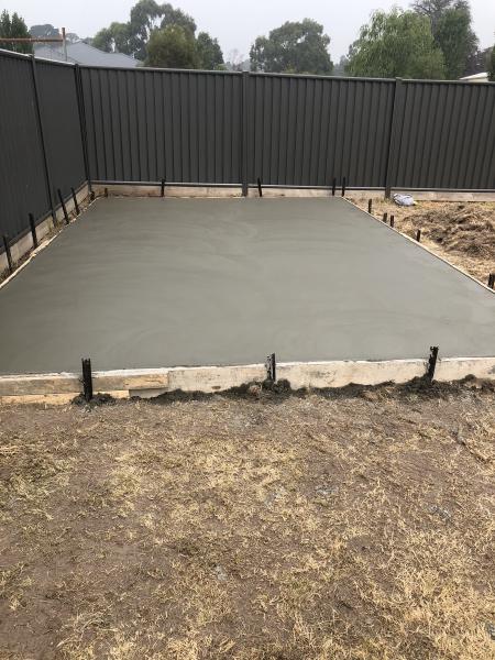 Finished Slab Garden Shed