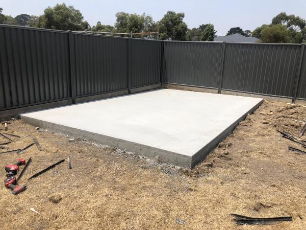 Finished Garden Shed Concrete Slab