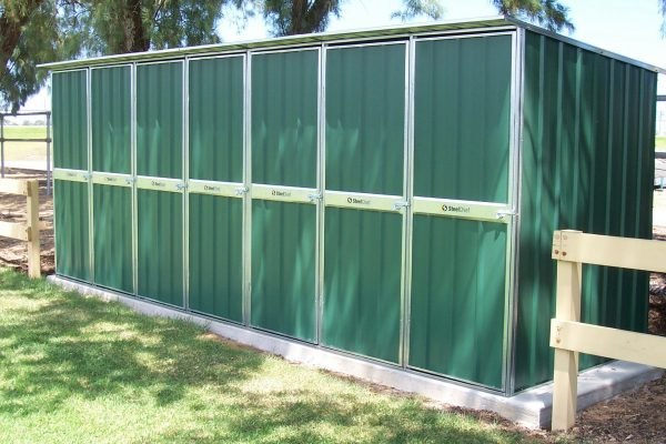 Large Multiple Door Skillion Garden Shed with Dividers