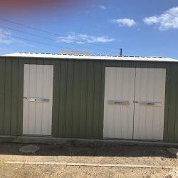 SteelFrame Gable Shed with Triple Doors