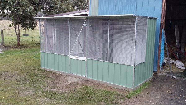 Aviary or Chicken Coop with Divider