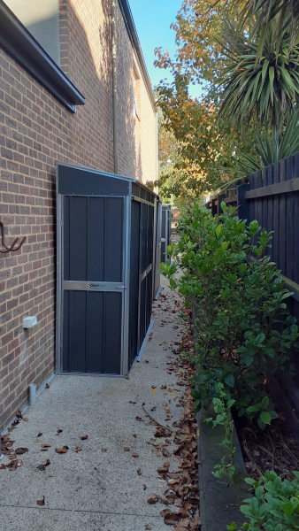 Narrow Storage Shed Solution Tunnel Shed