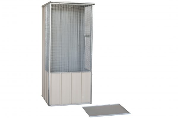 Flat Roof Junior Aviary with removable cleaning tray