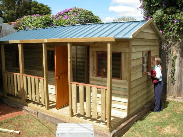 Kids Timber Cubby House with Verandah