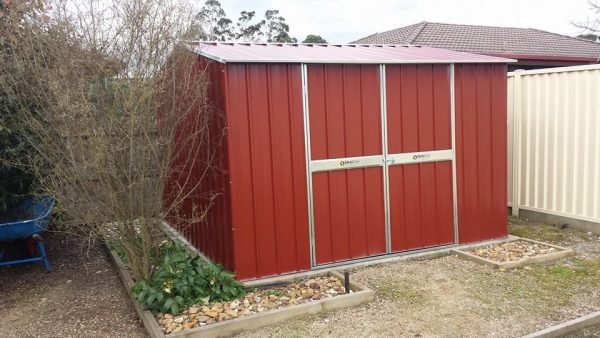 Gable Shed in Red
