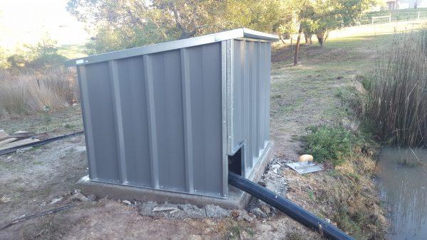 Small Custom Pump House Water