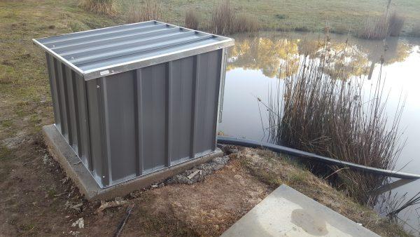 Metal Pump House Custom Water