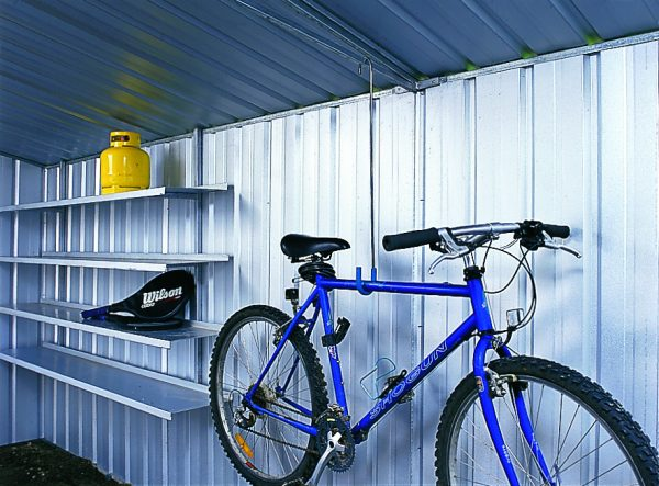 Shed storage solutions and accessories