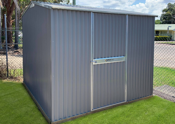 Corrugated Garden Shed with Vertical Cladding