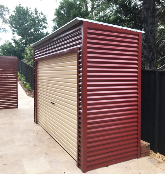 Corrugated Roller Door Shed