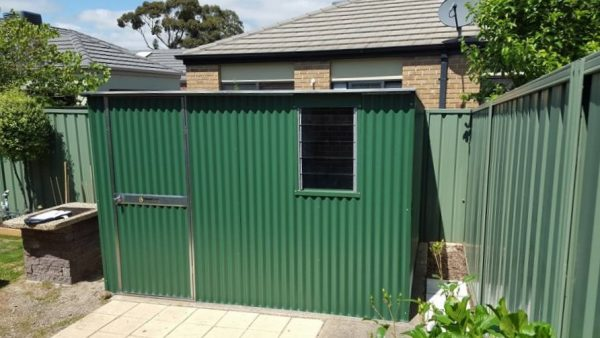 Corrugated Shed with Louvre Window