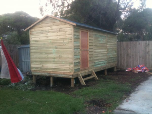 Gable Timber Shed raised on sub floor