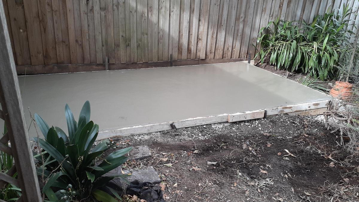 Concrete slab floor