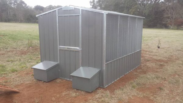Chicken Coop with Layer Boxes