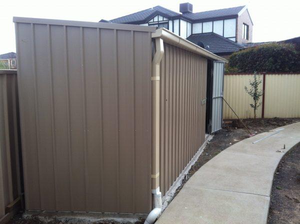 Triangular Custom Garden Shed With Skillion Roof