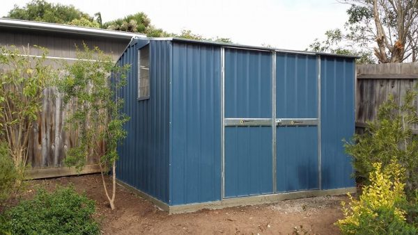 Steel Garden Shed With Double Doors and Gable Roof