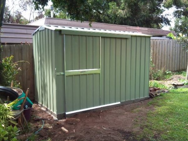Gable Roof Shed with Sliding Doors on rebated slab