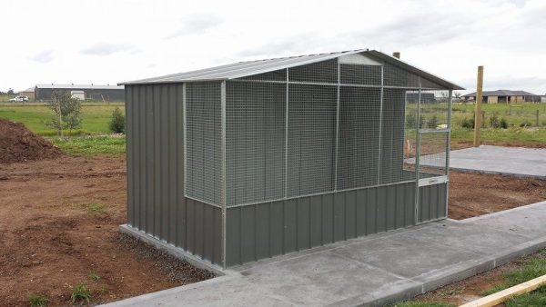 Heavy Duty Aviary with Wire In Gable