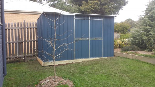 Garden Shed Storage Sloping Ground Custom Base