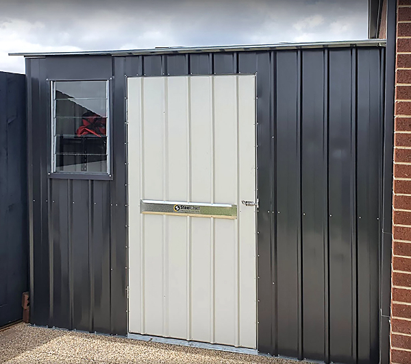 Skillion Roof Garden Shed With Wide Door