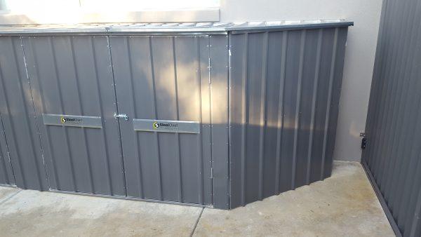 Custom Steel Frame Trapezoid Bin Lockers