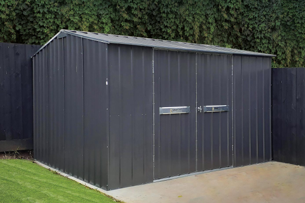 Steel Frame Garden Shed with Gable Roof