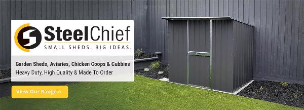SteelChief Garden Sheds, Aviaries, Chicken Coops & Cubbies 1