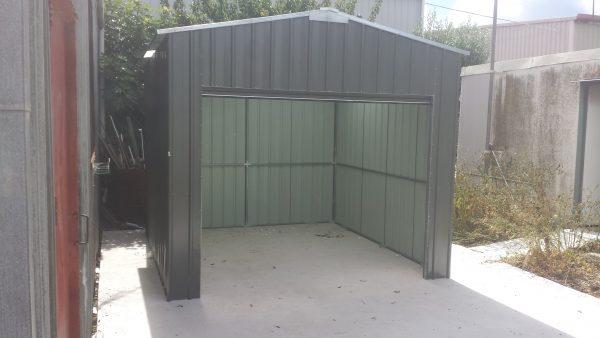 Steel Framed Gable Roller Door Shed