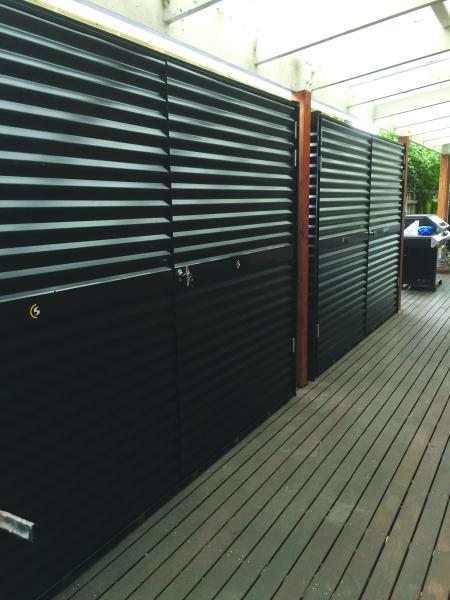 Steel Frame Corrugated Storage Lockers