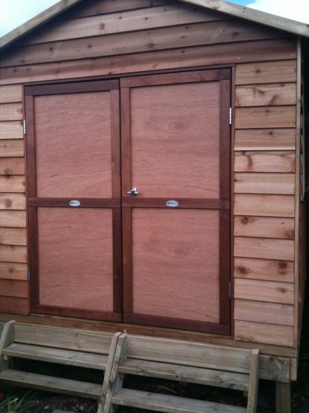 Timber Gable Double Doors on Sub floor